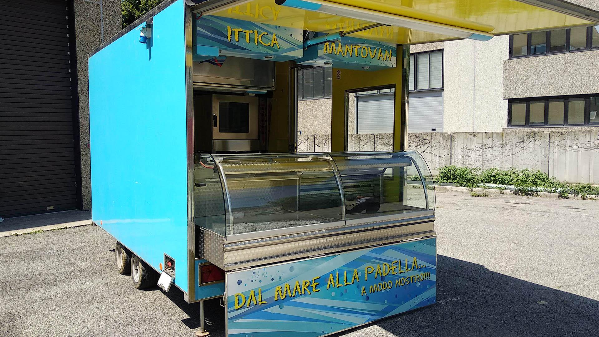 RIMORCHIO PESANTE - CUCINA MOBILE STREET FOOD (USATO 14 ...
